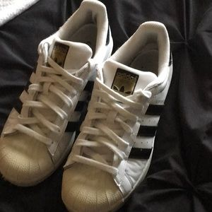 Adidas gold superstar shoes